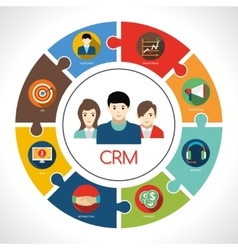 Crm Concept vector image