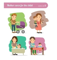 Mother and child vector
