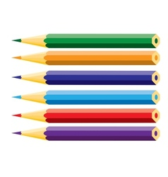 Crayons stationeries vector