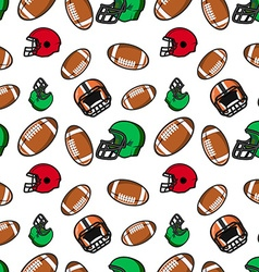 American football seamless pattern rugby helmets vector