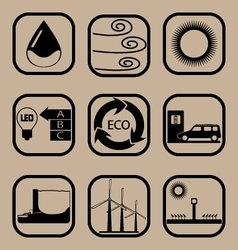 Ecology simple icon set vector
