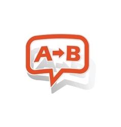 A-b logic message sticker orange vector