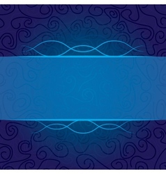 abstract curls in blue vector image vector image
