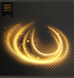 abstract transparent golden light effect vector image