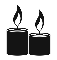 Aromatic candles icon simple style vector