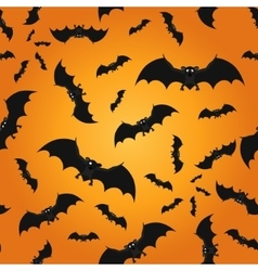 Bat seamless pattern background vector
