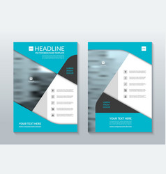 Blue annual report brochure layout template a4 vector