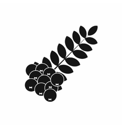 Branch of of rowan icon simple style vector image