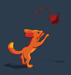 Cartoon little fox with big ears vector