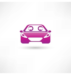 colored front car vector image vector image