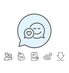 Comic speech bubble with smile line icon vector