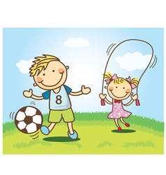 Cute Cartoon Children vector image
