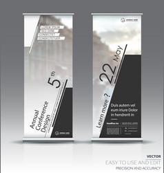 Design of a roll up vertical banner vector