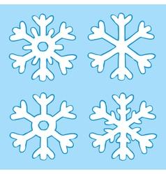 Four snowflakes vector