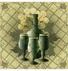 Goblets and wine vector image vector image