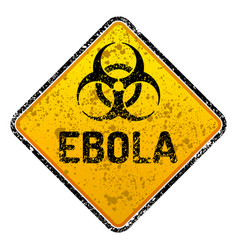 Grunge ebola virus biohazard warning sign - vector