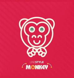 Line style monkey vector