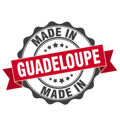Made in guadeloupe round seal vector