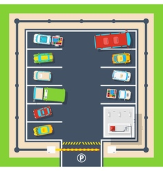Parking top view poster vector