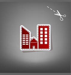 Real estate sign red icon with for vector