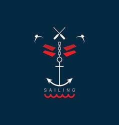 Sailing icon color vector
