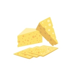 Swiss Cheese Set Of Pizza Ingredients vector image