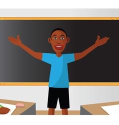 teacher classroom student vector image