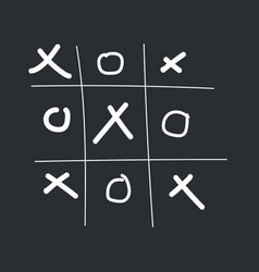 Tic-tac-toe game vector