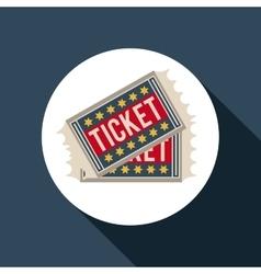 ticket film design vector image
