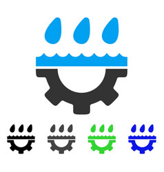 Water gear drops flat icon vector