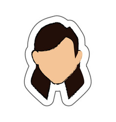 Woman avatar character icon vector