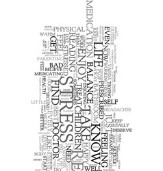 Work at home moms and stress text word cloud vector
