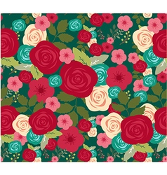 Flower of seamless background vector image