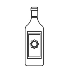 Tequila bottle icon vector
