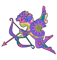 Colorful cupid 2 vector