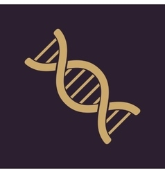 The dna icon genetic symbol flat vector