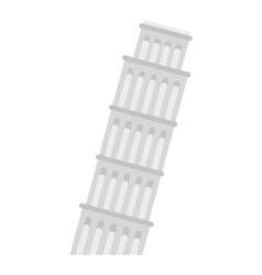 Pisa tower icon flat style vector