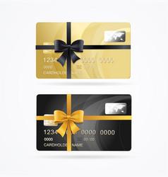 Vip present plastic cards set vector