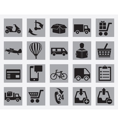 Set of different delivery icons vector