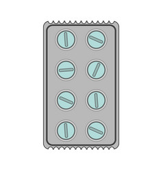 Color image cartoon pack for rounded pills vector