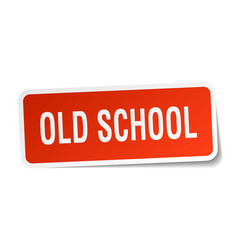 Old school square sticker on white vector