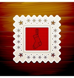Christmas napkin table vector