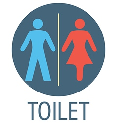 Wc signs vector image
