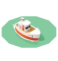 isometric ship vector image