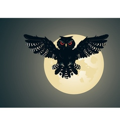 Owl and full moon2 vector