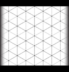 Triangle and Hexagon seamless pattern vector image