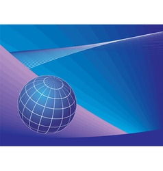 Planet globe over lines background vector