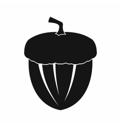 Acorn icon in simple style vector