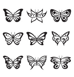 animal insect butterfly tattoo icon vector image