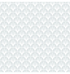 Art deco geometric pattern in silver white vector image vector image